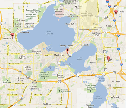 Similiar Map Of Wi Madison Area Keywords